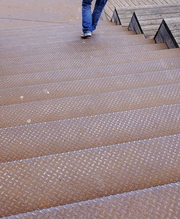 Low Section Human Leg Outdoors Real People Day Men One Person Human Body Part Wood Paneling People Best Of Stairways Break The Mold