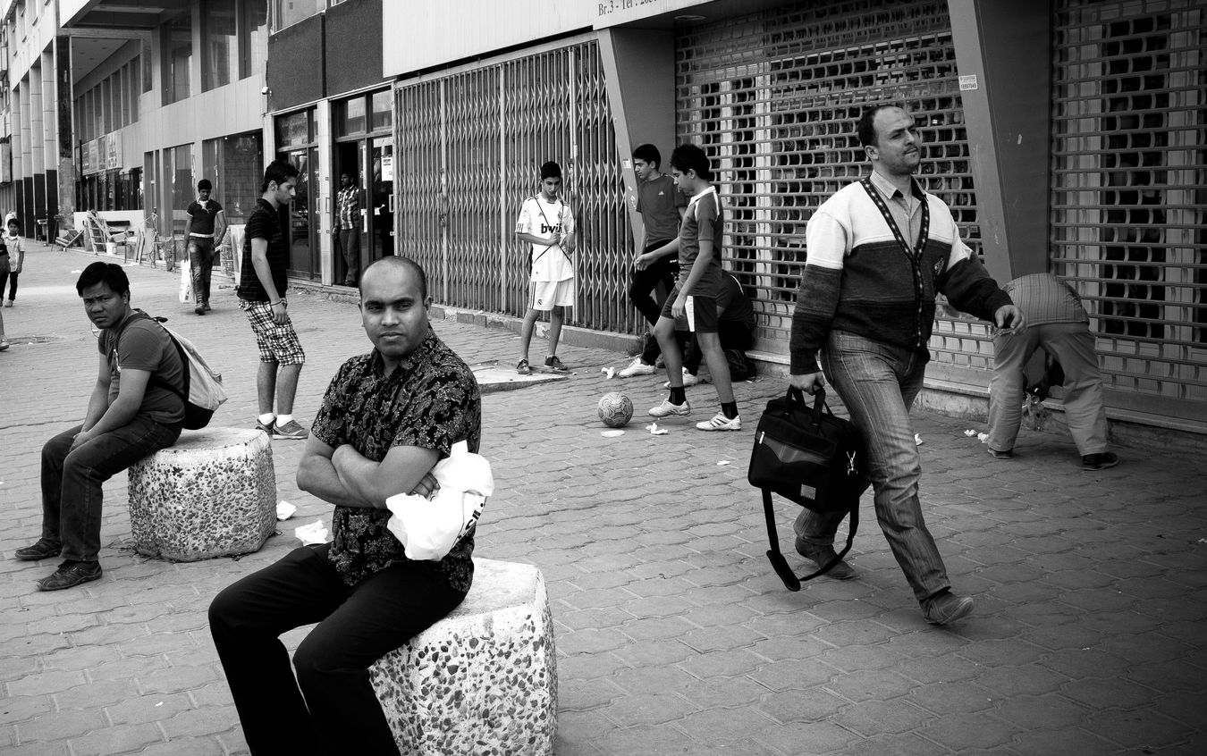 Adult Ball Building Exterior Busstop City Day FilipinoStreetPhotographers Fujix100 Kids Playing Kuwait City Men Only Men Outdoors People Real People Senior Adult Sitting Soccer⚽ Street Photography Stretphotography
