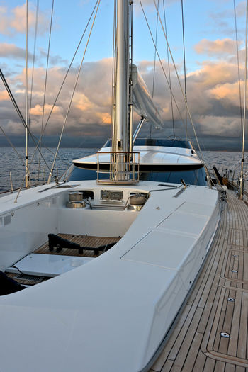 sailing Boat Deck Cloud - Sky Horizon Over Water Jacuzzi  Luxury Mode Of Transport Nature Nautical Vessel No People Outdoors Sailboat Sailing Sailing Boat Sailing Ship Scenics Sea Shipping  Tek Transportation Water Yacht