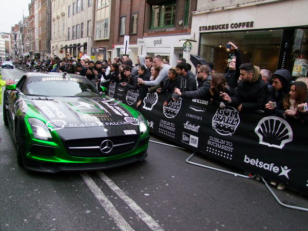Green & Black Mercedes AMG at Stage Finish Gumball 3000 Capital City Car City City Street Composition Finish Line  Full Frame Shot Fun GB Green And Black Colour Gumball3000 Land Vehicle Large Crowd Logos London Mercedes SLS AMG Mixed Age Range Mode Of Transport Outdoor Photography Rally Car Road Spectators Sporting Event Sports Car Uk