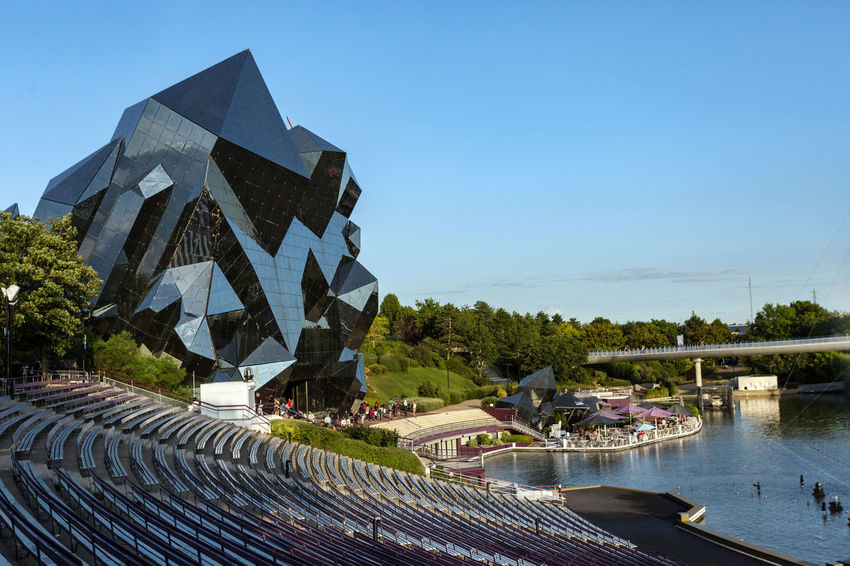 Futuroscope Theme Park Futuroscope Theme Park | Poitiers - France Futuroscope2017 Leisure Park Architecture Building Exterior Built Structure Clear Sky Day Nature Nautical Vessel No People Outdoors Sky Tree Water
