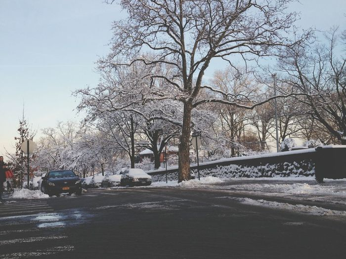 Snow ❄ Sunset Park :) taken during my way to school:D