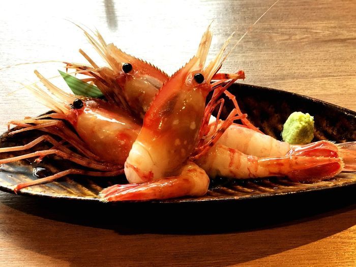 Freshness Wasabi Fresh Sea Food Sasimi Shrimps