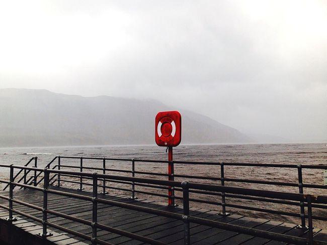 LochLomond Scotland Scotland 💕 Beauty In Nature No People Water Railing Mountain Sky Life Belt Scenics Winter Outdoors