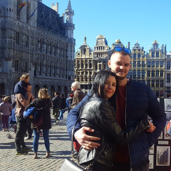 love in Brussels City Politics And Government Men Clock Tower Togetherness Cultures Architecture Office Building Cityscape Visiting Self Portrait Photography Taking  Urban Scene Crowded