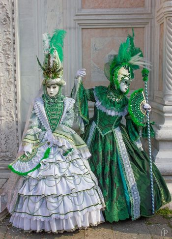 Green&White Art Street Street Carnival Italy Venice Mask - Disguise Carnival - Celebration Event Green Color Venetian Mask Celebration Costume Tradition Day Outdoors Arts Culture And Entertainment Statue No People