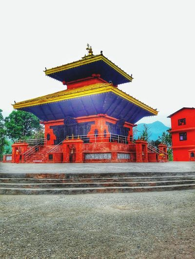 Nepal Nepal Temple Culture Place Chitwan Religious  Gods Lovenepal Loveculture Red Cultures Sky Architecture Building Exterior Built Structure EyeEmNewHere