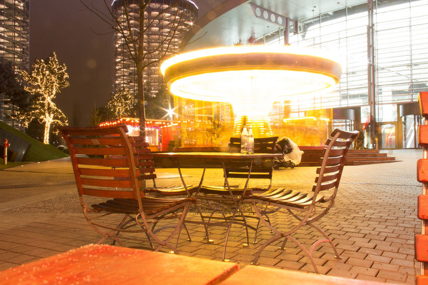 Architecture Autostadt Chair Cold Temperature Illuminated Karusell Langzeitbelichtung Night Night Photography Nightphotography No People Outdoors VW Wolfsburg
