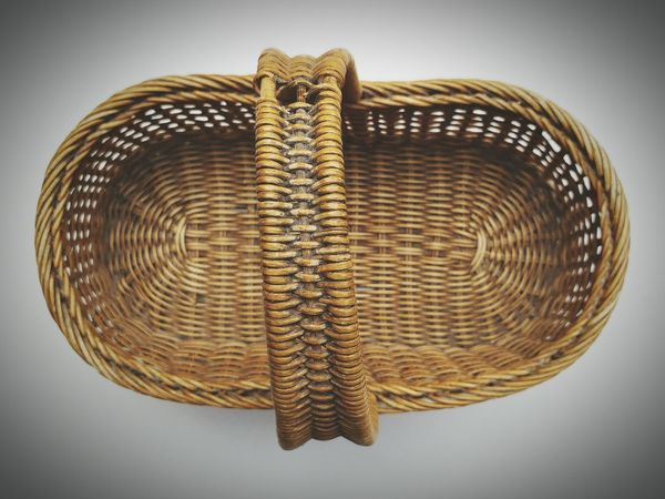 EyeEm Selects Basket Basket Weave Old Wood - Material Bamboo - Material Textured  Close-up No People White Background Day Antique Retro Styled Rattan