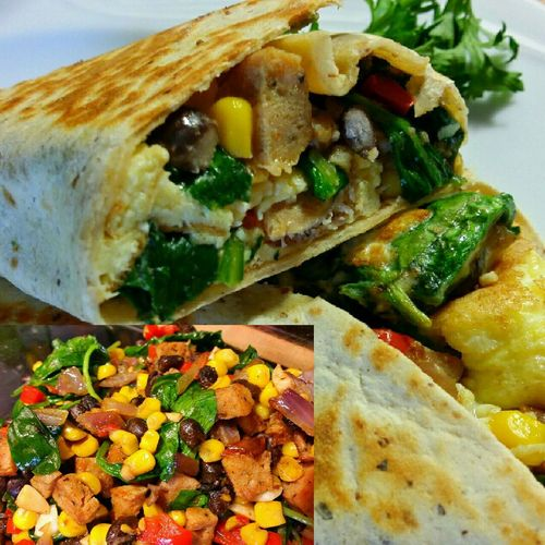 Spicy Breakfast Burritos! Ddcatering Enjoing A Meal Burrito