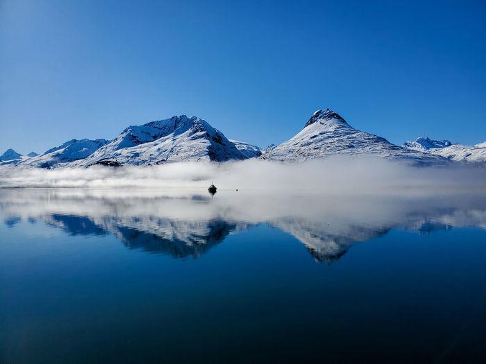 A calm sunny day in valdez,  alaska