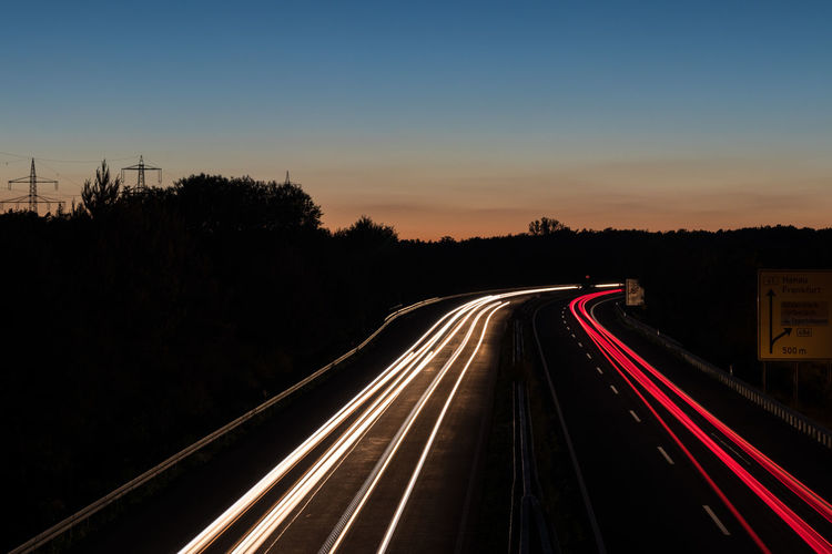 Bluesky High Angle View Highway Highways&Freeways Lights Lightstreaks Lightstream Night