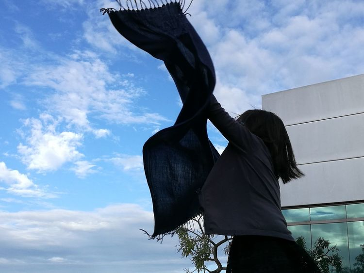 I thought shawls don't fly.. but this was about to fly when suddenly the owner didn't let go... #windy day #check this out #sky and shawls #shawls #blue #NoFilter #photography #JustMe #photography #Sunday #Windy Day #stillphotography #JustMe #Enjoyinglife Sky