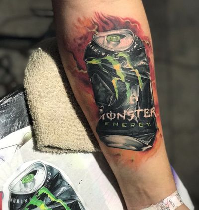 Tattoo Tatuagem Art Lifestyles Real People One Person Men Text Leisure Activity Indoors  Close-up Day Human Hand One Man Only Young Adult Human Body Part Adult People Vacations Attitude Brazil Fashion Tattooartist  Monster Energy