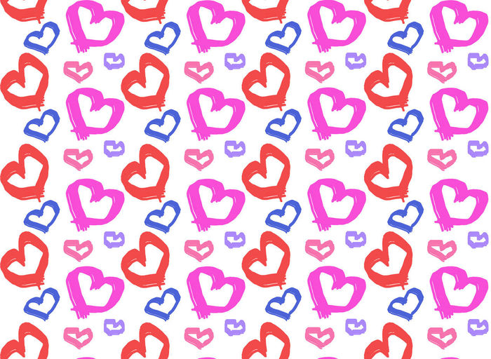 Seamless colourful of paint heart shape on white background, valentine frame Full Frame Abundance Seamless Pattern No People Multi Colored Letter Pink Color Heart Shape Valentine's Day  Frame Card Design Print Paper Illustration Wrapping Paper Romantic Art Pink Purple Blue
