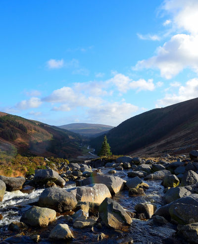 Beauty In Nature Beauty In Nature Blue Boulders Day Ireland Mountain Mountain Range Nature Nature Outdoors Pebble Scenery Scenics Sky Tranquil Scene Tranquility Water Wicklow Wicklow Mountains  Wicklowgap