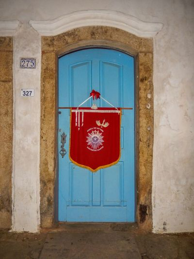 Door Red Architecture Built Structure Blue Window No People Day Building Exterior Outdoors Festa Do Divino