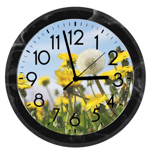 Close-up of clock over white background