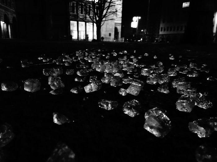 Berlin Dark Icerain Karl Marx Platz Outdoors Tranquility Water