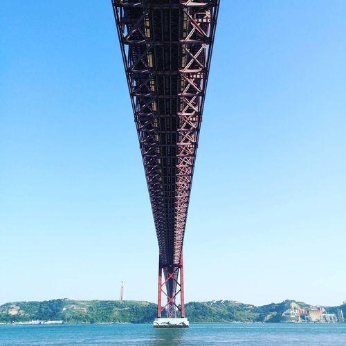 Bridge - Man Made Structure Sky Clear Sky Architecture Ponte 25 De Abril Tejo River Suspension Bridge Lisbon - Portugal