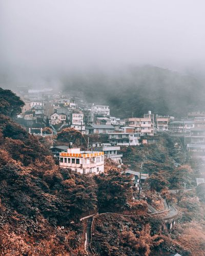 Building Exterior Architecture Built Structure Fog Building Residential District No People Nature Tree High Angle View City Day Sky Outdoors