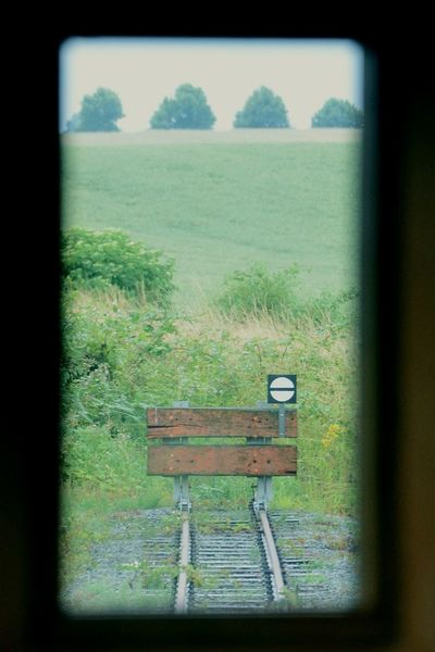 Buffer stop (2017) Track Tracks Buffer Buffer Stop Bumper Wagon  Railroad Track Railway Dead End Deadend This Week On Eyeem No Pepole Window View Window Frame