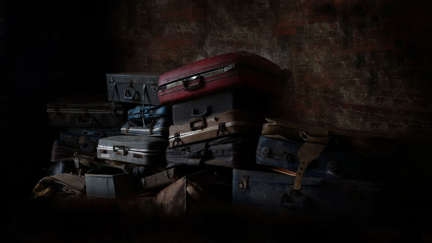 Travel Luggage Antique Arts Culture And Entertainment Book Box Communication Container Domestic Room Indoors  Large Group Of Objects Luggage Luggage, Travel  Night No People Old Publication Stack Still Life Table Technology Wood - Material