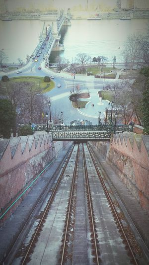 View from Budapests funicular Budapest Hungary Funicular