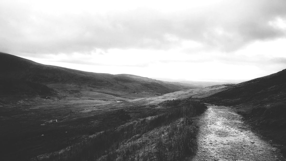 Wales Snowdonia Llanberis Landscape Mountain Nature Outdoors Alone Hiking Hiking Trail Hikingadventures Scenics IPhoneography Blackandwhite Black & White Blackandwhite Photography EyeEmNewHere Perspectives On Nature