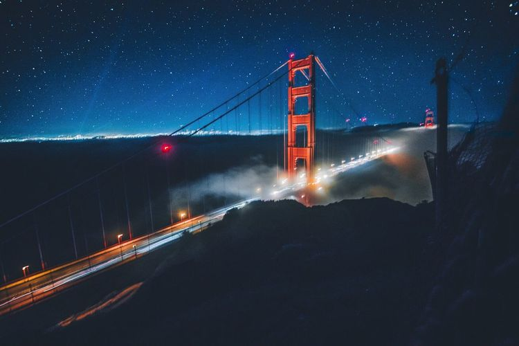 """Golden Gate Bridge By Night"" // San Francisco Golden Gate Bridge First Eyeem Photo"