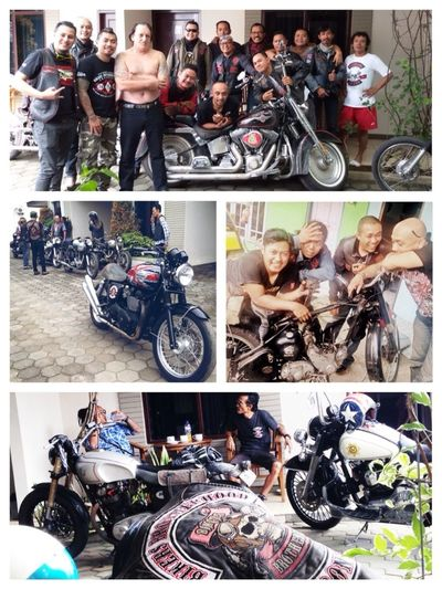 Brotherhood Forever Forever Brotherhood Bikers Brotherhood Mc Indonesian Street (Mobile) Photographie Great Atmosphere 1% Enjoying Life Old Classic Motorcycle