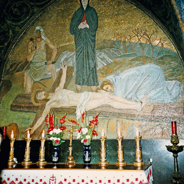 XIII Station of the Cross - Via Dolorosa, Jerusalem, Israel Spirituality Day Religion Indoors  Close-up No People Biblical  Stations Of The Cross Biblical Experience Barabbas Via Dolorosa, Jerusalem A New Beginning