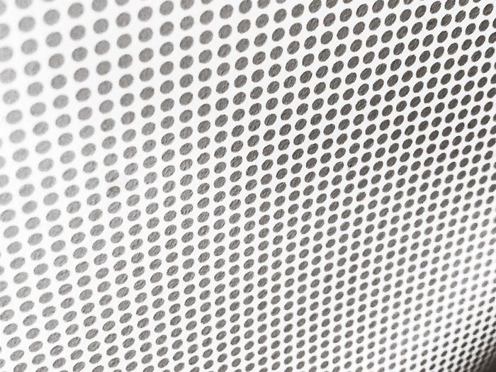 Backgrounds Pattern Textured  Full Frame Metal Close-up No People Grid Gray Textured Effect Abstract Silver Colored Circle Surface Level Macro White Color Repetition Geometric Shape Shape Steel