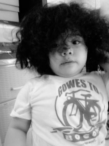MyBabyGirl  Curly Hair Funnyface Wakeuppics Happydays😎 Vinski