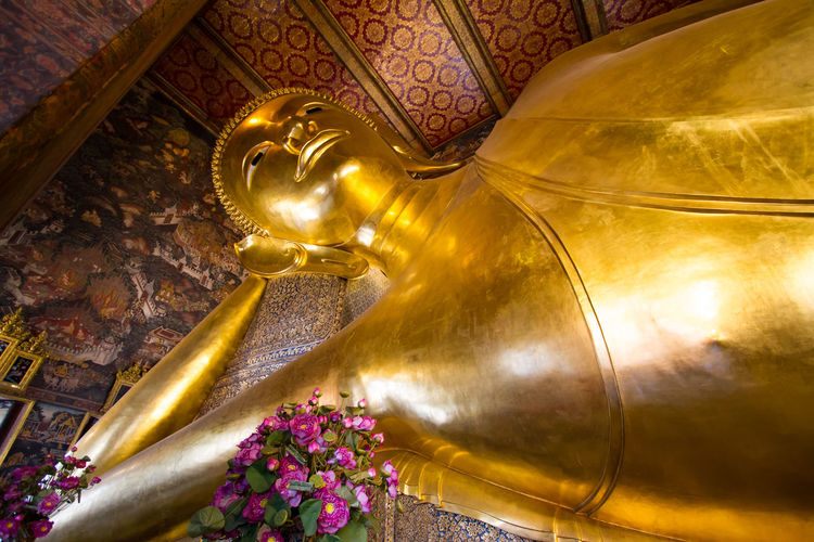 buddha in bankok thailand Bangkok Buddha Thailand Travel Travel Photography Believe Big Buddha, Thailand Buddhism Buddhist Temple Day Gold Gold Colored Indoors  Low Angle View No People Photography Religion Sculpture Spirituality Statue Temple