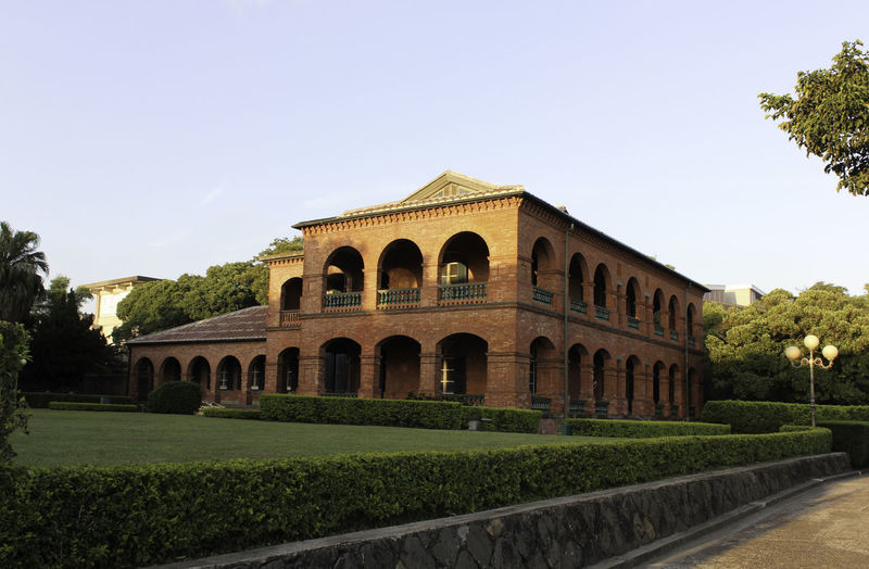 Fort San Domingo Arch Architecture Building Exterior Built Structure City Cultures Day Fort San Domingo Grass History Nature No People Outdoors Plant Sky Taipei Taiwan The Past Travel Destinations Tree Tumsui
