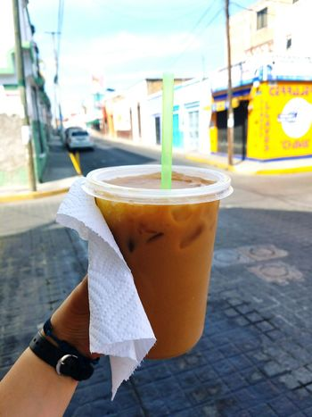 I tend to like vivid, high-contrast pictures of things. Tejuino Food Food And Drink Refreshment Drink Outdoors Human Hand City Mexico