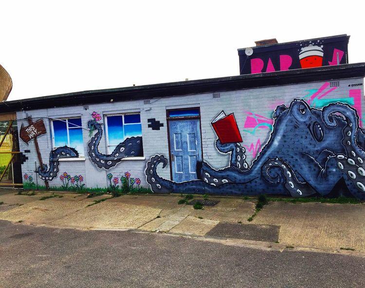Art Taking Photos Enjoying Life Streetphotography Streetart Sealife Octopus Reading Is Fundamental England🇬🇧