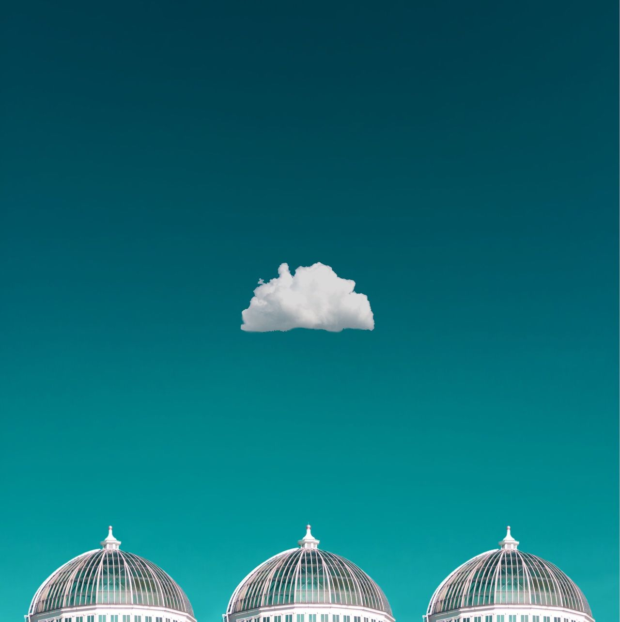 Single cloud over domes