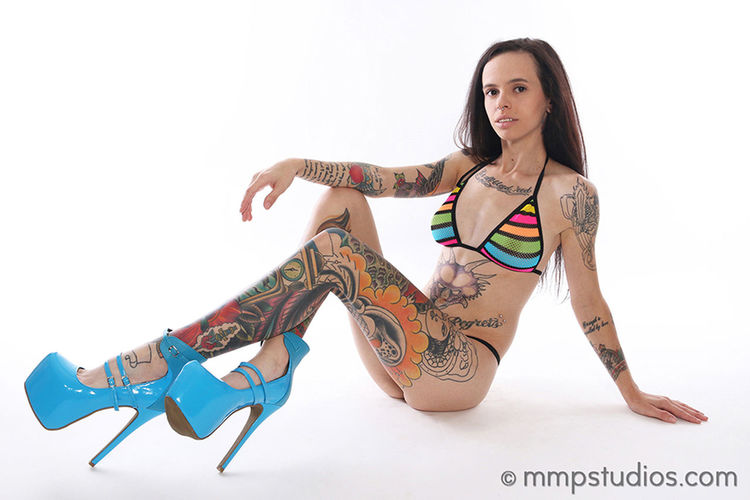 @melvinmaya @mmpstudios_com Beautiful Girlswithtattoos HighHeels Houston Texas Beautiful Woman Beauty Brunette Colorful Followme Full Length Gorgeous Lingerie Model One Person Photographer Photography Rainbow Studio Shot Tattoo Tattoos White Background Young Adult