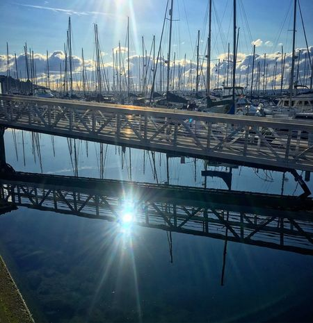 Water Ramp Reflection Sky Sun Sunlight Outdoors Nautical Vessel Nature