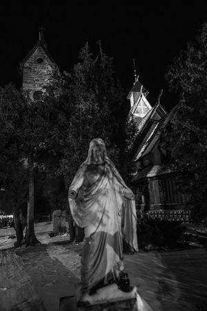Karkonosze Karpacz Wang Winter Blackandwhite Cementary Religion Scenics Snow Temple