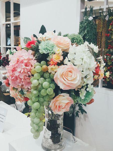 Sweet♡ Flower Decoration Beautiful ♥ Rosé Carnation Hydrengea Grapes 🍇 Artificial Flower The Crystal SB Ratchapruek