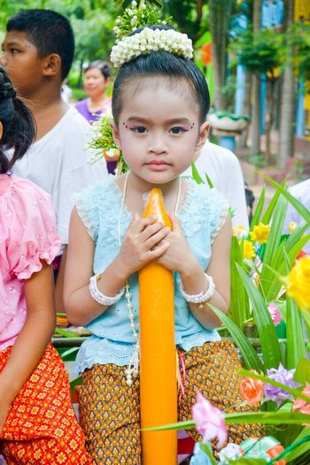 Lent traditions in thailand. Thailand Lent Child Togetherness Childhood Females Sitting Girls Women Happiness Portrait Looking At Camera