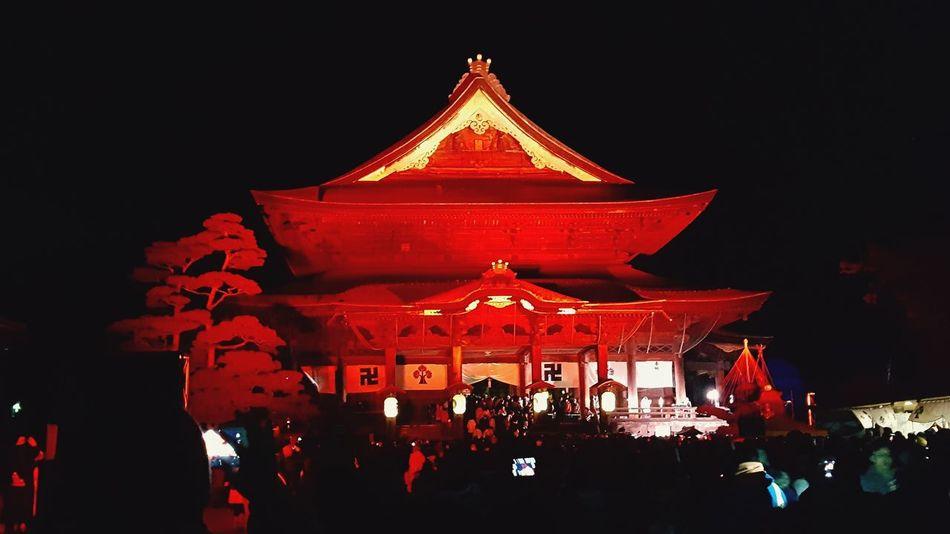 日本 和 寺 善光寺 (zenko-ji Temple) ライトアップ イルミネーション 夜景 長野県 Japan Temple Nagano Night Arts Culture And Entertainment Red Celebration Outdoors Tradition Illuminated