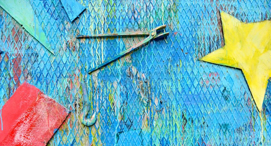 colored metal surface Grid Paint Panel Rust Shape Square Brush Close-up Color Colored Metal Colorful Day Diamond Shapes Grunge Key Keyhole Metal Metal Background Metal Surface No People Padlock Pliers Surface