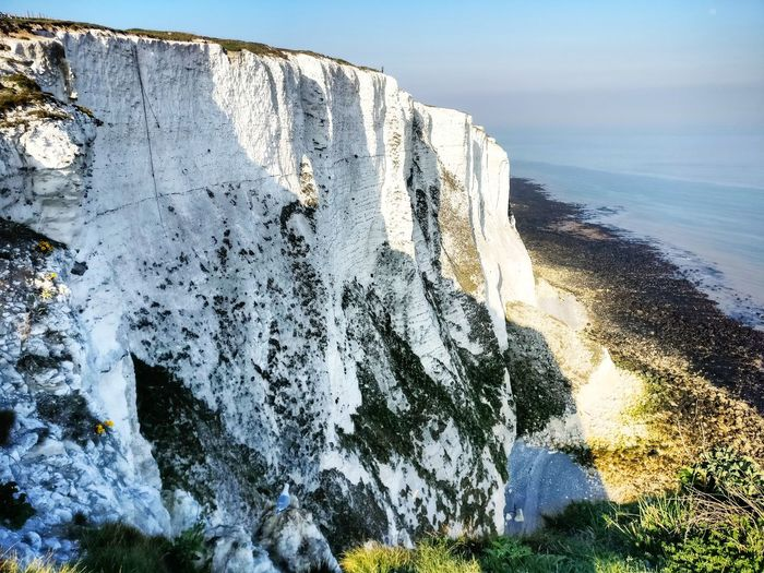 White cliffs of Dover. Kent Dover White Cliffs  White Cliffs Of Dover Seascape Sea Water Sea Blue Sky Close-up Horizon Over Water Rock Formation Rocky Mountains Wave Geology Rocky Coastline Physical Geography