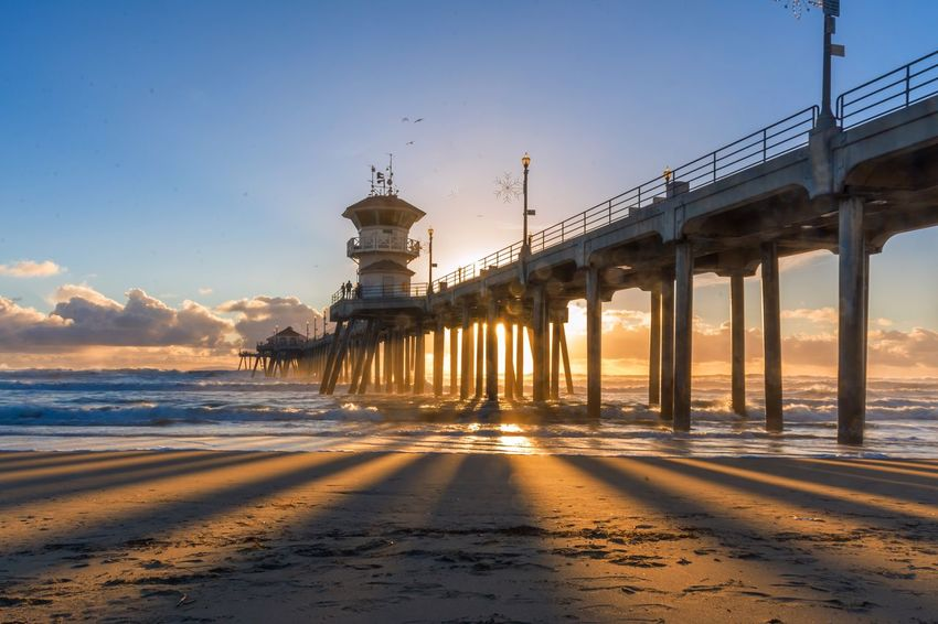 Showcase: February Pier Sunset California Huntingtonbeach