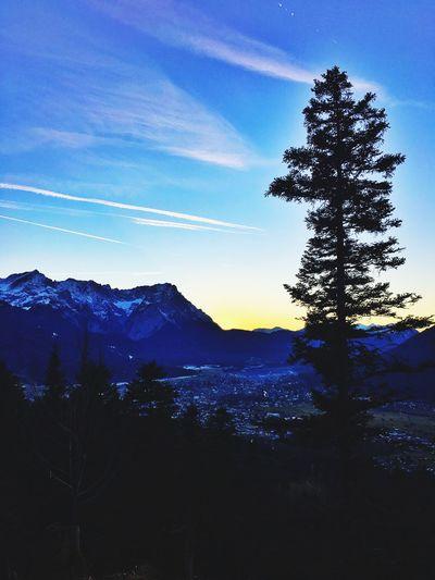 Sunset Mountains Blue Sky Sky Enjoying The View On A Hike Gapa1516