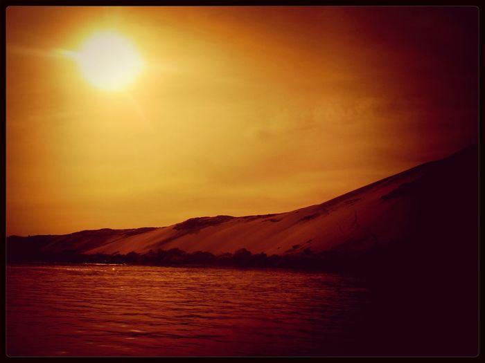 Around The World By Lufthansa Egypt Sunset Nilo